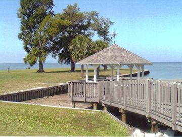 Gazebo overlooking Gulf of Mexico
