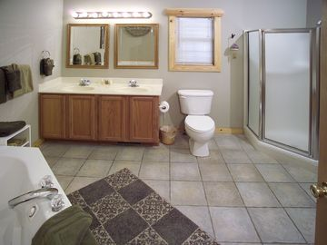 Master bathrooms also have walk in showers.