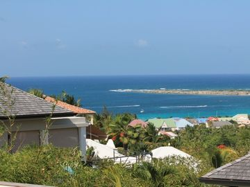 Orient Bay villa rental - Welcome to Villa Point de Vue , Orient beach view left , St Barth view on right