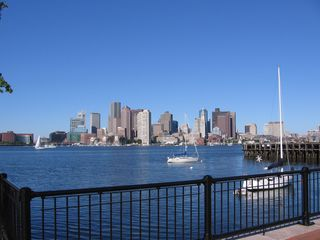 Boston condo photo - Boston harbor and skyline from Piers Park