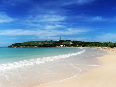 Playa Sucia, also known as the Lighthouse beach or playuela.