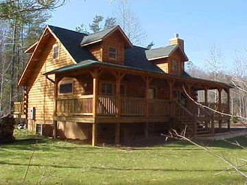 Lake Lure cabin rental - Camp-View Cabin with large front and back decks