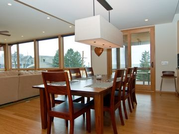 Dining room opens to screened in porch
