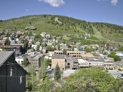 View from deck off living room. Park City Main Street at your feet.