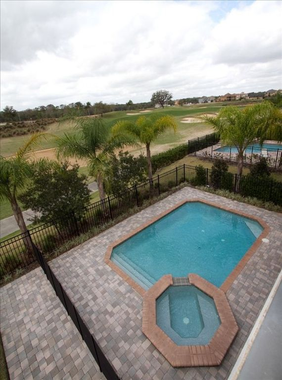 Pool/Spa Overlooking West Facing Back Yard Golf View.