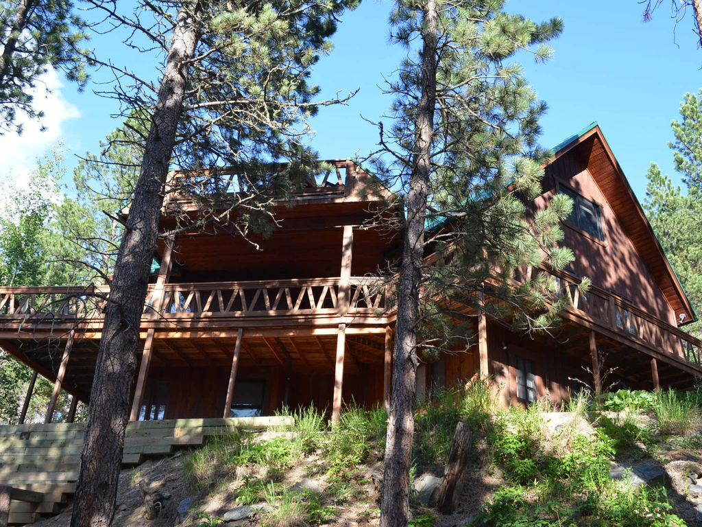 Hill city house rental beautiful peaceful vacation home for Pactola lake cabins