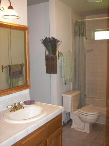 MASTER BATHROOM #2 WITH SINK VANITY, BATH TUB & SHOWER
