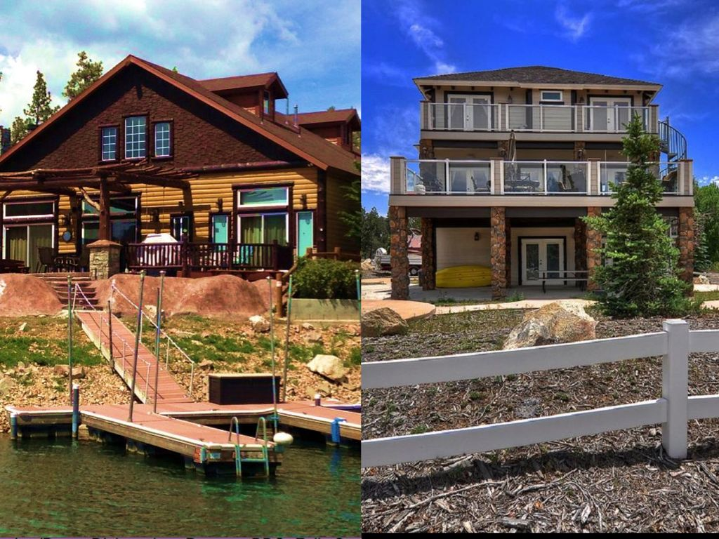 Two adjacent lakefront homes on beautiful vrbo for Lake front properties