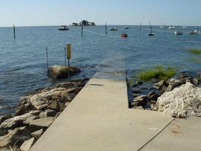 Launching ramp for kayaks and small boats