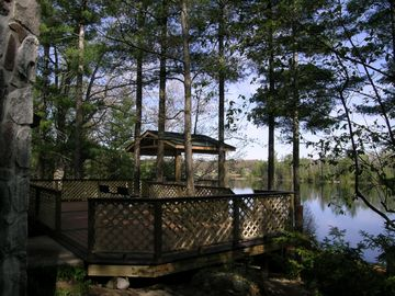 View of the deck and Lake