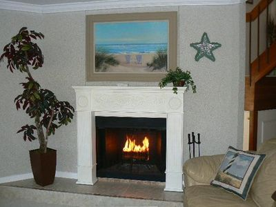 Enjoy a fire on cool winter evenings...