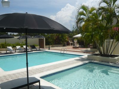 Modern luxury spacious villa with 2 swimming pools and private tennis court