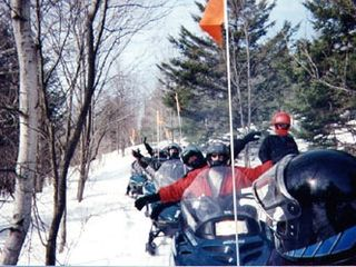 Mount Snow house photo - Snowmobiling adventure! VAST trail near the house!