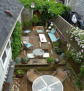 Nantucket Town house rental - Patio off kitchen