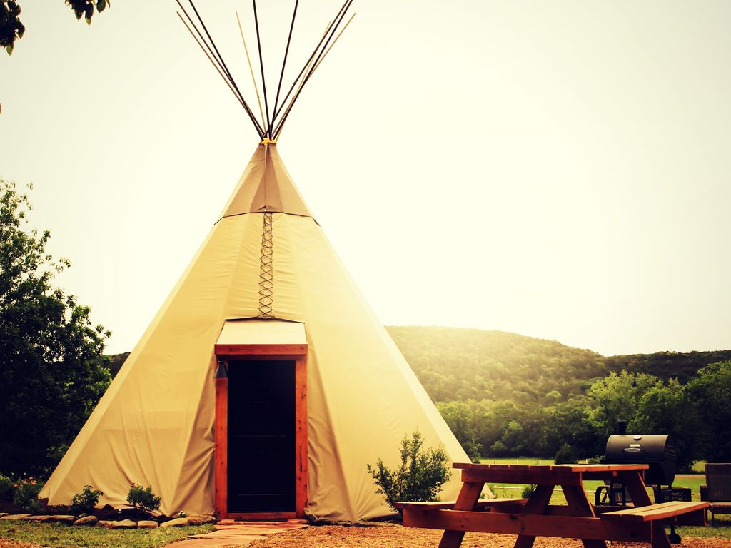 New Braunfels Camping >> Amazing Tipis! #3 Reservation On The... - VRBO