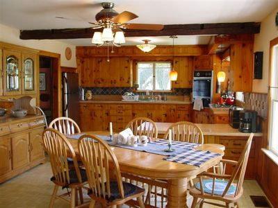 North Creek farmhouse rental - Dining room/ kitchen area