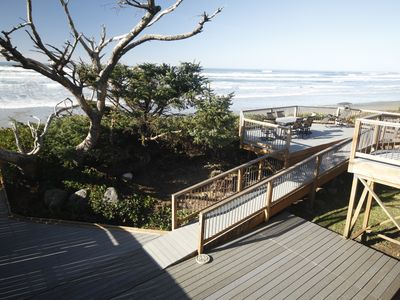 View of lower deck - the beach is just steps away!
