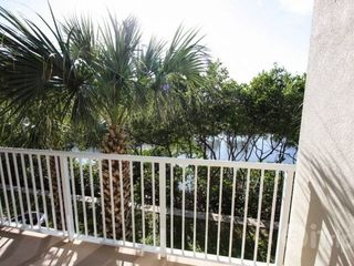 Ruskin townhome photo - Private balcony off living area, marina view