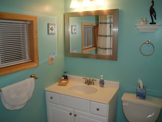 Full bath with soaking/tub shower - Alexandria Bay cottage vacation rental photo