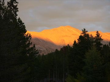 "Don't miss the ""pink moment"" sunset views of Baldy Mtn from our front yard"