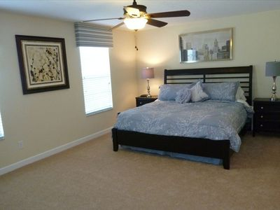 Master Bedroom- King Bed + Flat Screen TV