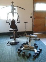 Camano Island house photo - Partial view of workout equipment in gym