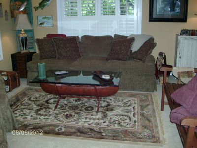 Asheville house rental - lower level family room