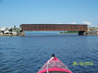 Colchester cottage photo - Kayaking under The Rutland Rail Road Bridge. Sunset and law Islands beyond