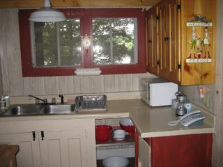 Great Barrington cottage photo - Country kitchen. This window looks out on the Lake, too.