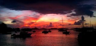 Cruz Bay condo photo - Enjoy dramatic sunsets over Cruz Bay Harbor from your own private balcony.