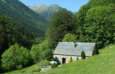 Typical Pyrenean barn, 16 ft away from St Lary, comfort in the middle of nature