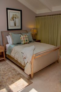 Luxurious bedding & beautiful designer decor throughout