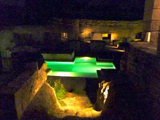 Naujan-et-Postiac farmhouse photo - Pool at night
