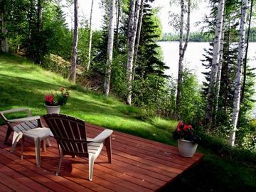 Private deck overlooking Echo Lake