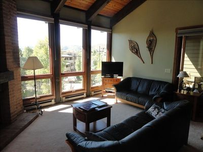 Enjoy the view of the Yampa valley from the comfort of the upgraded living room.