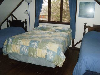 Newfound Lake chalet photo - Kids Bedroom, double & 2 twins, 2nd floor