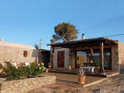 Charming, stone, overlooking Ibiza, 1,200 m2 of private land