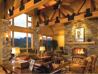 Big Sky house photo - Cozy and warm living space with spectacular views