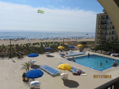 2 bedroom, 2 bath  direct ocean front condo, large covered deck facing ocean