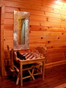 Pigeon Forge cabin rental - Checker/Chess games. The king is 7 inches tall.