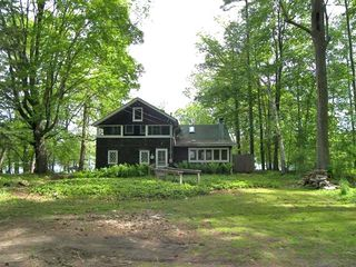 Lakeville cottage photo - House from Driveway -- Looking Toward the Lake