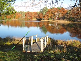 Westport Island house photo - Heal Pond in October....canoe and kayak available all seasons.