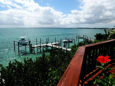 Deck looking south over the Sea of Abaco