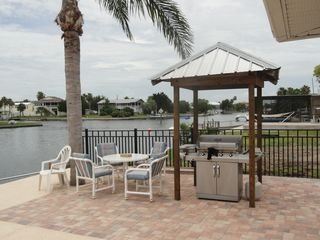 Hernando Beach house photo - The outside deck, gas grill and entertainment area await your enjoyment.
