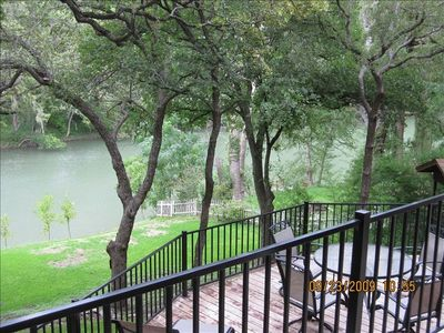 View of the Guadalupe River from larger Cabin. Multiple deck areas to enjoy.