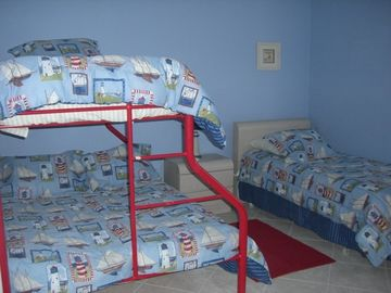 Lighthouse Kids Room with Twin and Twin-over-Full