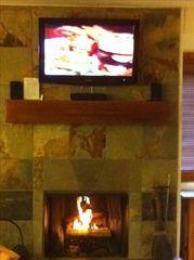 Wilson condo photo - Wood burning fireplace.