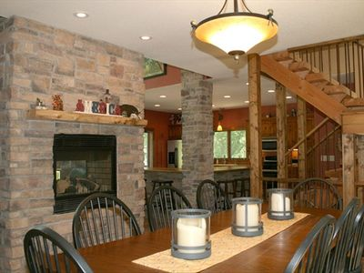 Open concept w/two sided fireplace