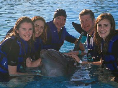 We visited the dolphins while in Cabo!!