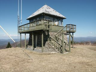 Hot Springs house photo - Duckett Top Lookout Tower, across the valley from and inspiration for our cabin